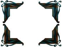Canto da foto do revestimento de Patina ilustração do vetor