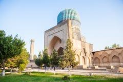 Canto da mesquita de Bibi-Khanym foto de stock