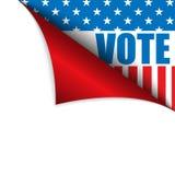 Canto da página do Estados Unidos da América do voto ilustração royalty free
