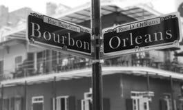 Canto da rua de Bourbon fotografia de stock royalty free