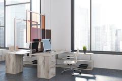 Canto de escritório moderno, fim da instalação da arte acima Imagem de Stock