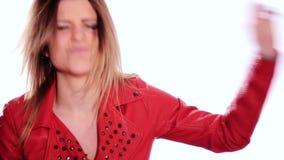 Canto de la estrella del rock almacen de video