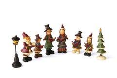 Canto de la familia de la Navidad imagen de archivo