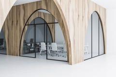 Canto de madeira claro da sala de reunião do escritório ilustração royalty free