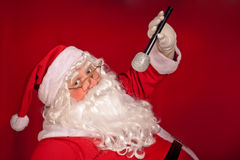 Canto de Papá Noel Fotos de archivo