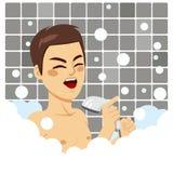 Canto del baño del hombre ilustración del vector