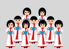 Canto del coro Immagine Stock
