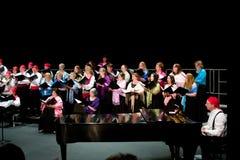 Canto del coro imagenes de archivo