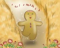 Canto del muchacho del pan del jengibre Fotografía de archivo