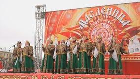 Canto della banda delle Russo-gente con le canzoni in scena archivi video