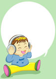 Canto do bebê Imagem de Stock