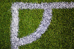 Canto do campo de futebol fotografia de stock royalty free