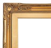 Canto do frame de retrato do ouro Fotografia de Stock Royalty Free