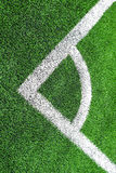 Canto do futebol & do x28; soccer& x29; campo Imagens de Stock Royalty Free