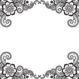 Canto do ornamento do vetor da flor Imagens de Stock