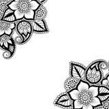 Canto do ornamento do vetor da flor Imagem de Stock