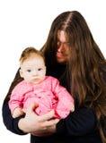 Canto do pai do metal pesado lulaby a seu filho Fotografia de Stock