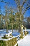 Canto do parque velho do inverno Imagem de Stock