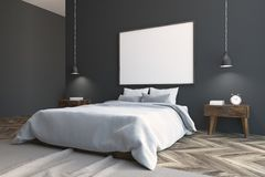 Canto do quarto de Gray Scandinavian, cartaz Foto de Stock Royalty Free