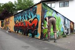 Canto dos grafittis imagens de stock royalty free