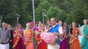 Canto e dança da lebre Krishnas video estoque