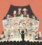Canto engraçado do coro de escola ilustração royalty free