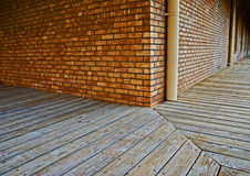 Canto exterior de construção do corredor Foto de Stock