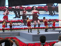 Canto  Fair - China Import and Export Fair 2010. One of the stage performance that entertaining the visitor and guest Royalty Free Stock Photo