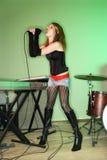 Canto femminile. fotografia stock