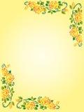 Canto floral ilustração do vetor