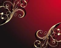 Canto floral do ouro Imagens de Stock Royalty Free