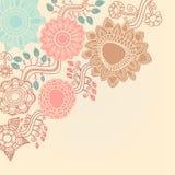 Canto floral retro Imagens de Stock