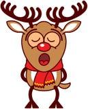 Canto lindo del reno de Navidad inspirado ilustración del vector