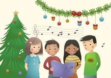 Canto natalizio di Chrismtas Immagini Stock Libere da Diritti