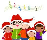 Canto natalizio di natale Immagini Stock Libere da Diritti