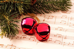 Canto natalizio di natale fotografie stock