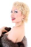 Canto novo da mulher do blondie fotos de stock