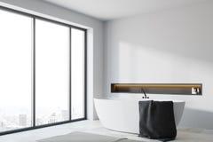 Canto panorâmico branco do banheiro Fotos de Stock