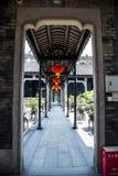 Canton, attrazioni turistiche famose del ` s della Cina, corridoio ancestrale di Chen, dentro un riparo dal corridoio della piogg fotografie stock libere da diritti