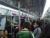 Canton, Cina: automobile di sottopassaggio e della stazione della metropolitana, paesaggio del passeggero Fotografia Stock