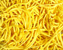Canton egg noodles close-up Royalty Free Stock Image
