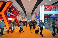 Canton fair electronics hall 10.3 Royalty Free Stock Photos