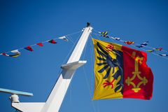 Canton Of Geneva Flag. The official flag the Geneva Canton, Switzerland Royalty Free Stock Image