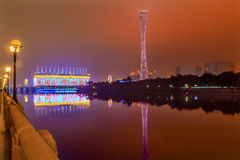 Canton Guangzhou Tower Pearl River Guangzhou Guangdong China Royalty Free Stock Photo