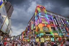 Canton, strada dei negozi della Cina Immagine Stock Libera da Diritti