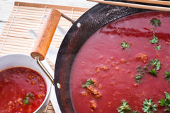 Canton tomato soup Stock Photo
