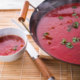 Canton tomato soup Royalty Free Stock Photo