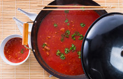 Canton tomato soup Royalty Free Stock Image