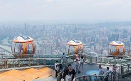 Canton tower bubble tram, Guangzhou Stock Photo