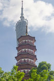 Canton Tower and Chigang Pagoda Royalty Free Stock Photos